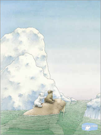 Premium poster  The little polar bear - adventure with the walrus