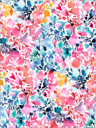 Premium poster Magical colorful flowers
