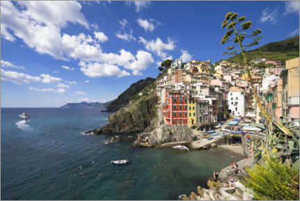 Canvas print  Riomaggiore is one of the five villages of the Cinque Terre - Jan Christopher Becke