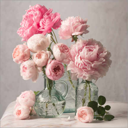 Premium poster  Peonies and roses still life - The Salted Image