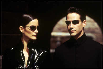 Premium poster  The Matrix Reloaded - Neo and Trinity