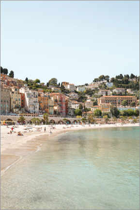 Premium poster The Colorful Coast Of Menton, France