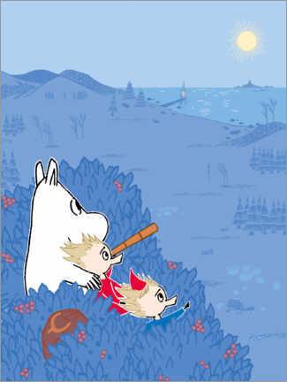 Premium poster  An evening in the Moominvalley
