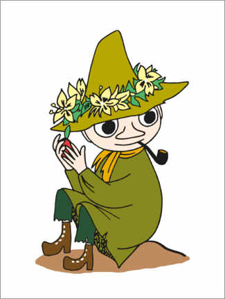 Premium poster  Snufkin with a pipe