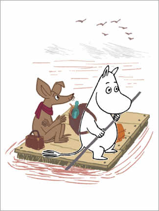Premium poster  Moomin and Sniff on their travels
