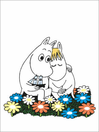 Premium poster  Moomin and Snorkmaiden