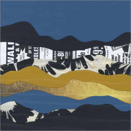 Premium poster Abstract Mountains II