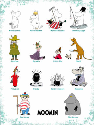 Premium poster  We are the Moomins