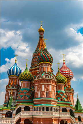 Canvas print  St. Basil's Cathedral in Moscow 1 - HADYPHOTO