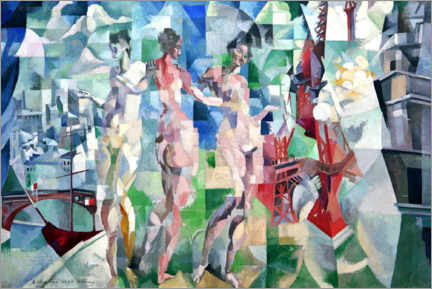 Premium poster  The City of Paris - Robert Delaunay