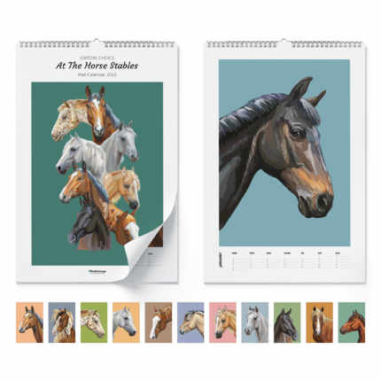 Wall calendar  At The Horse Stables 2022