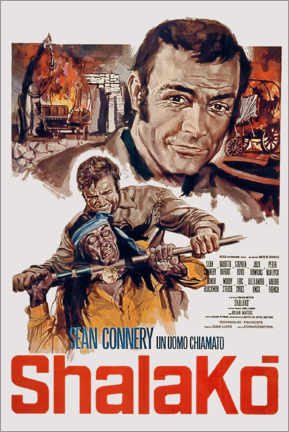 Premium poster  Shalako movie poster by Edward Dmytryk with Sean Connery 1968