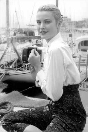 Canvas print  Grace Kelly at Cannes Festival, 1955