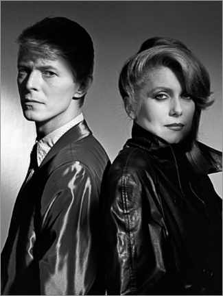 Premium poster  David Bowie and Catherine Deneuve in 'The Hunger', 1983