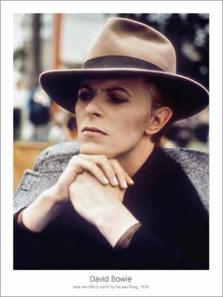 Premium poster  David Bowie, Man who fell to earth by NicolasRoeg, 1976