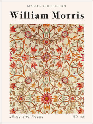 Canvas print  Lilies and Roses No. 32 - William Morris