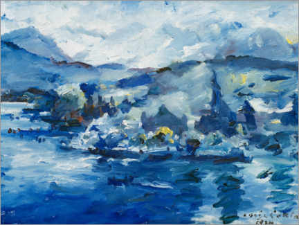 Acrylic print  Lake of Lucerne - Lovis Corinth