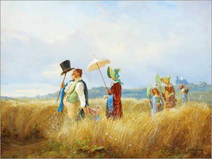 Canvas print  The Sunday walk - Carl Spitzweg
