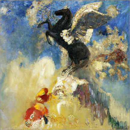 Canvas print  The Black Pegasus - Odilon Redon