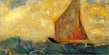 Canvas print  The Mystical Boat - Odilon Redon