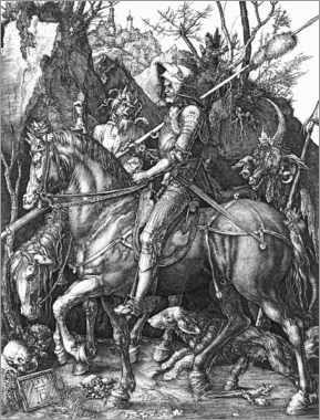 Aluminium print  Knight, Death and the Devil - Albrecht Dürer