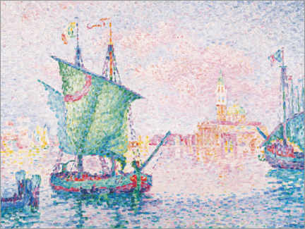 Canvas print  Venice - the pink cloud - Paul Signac