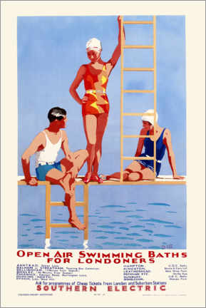 Canvas print  Open Air Swimming Baths for Londoners - English School