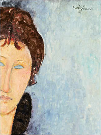 Premium poster  Woman with Blue Eyes - Amedeo Modigliani