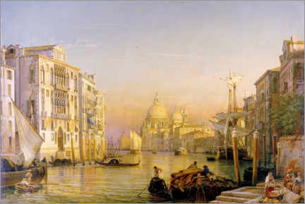 Wall sticker  Grand Canal in Venice - Friedrich Nerly