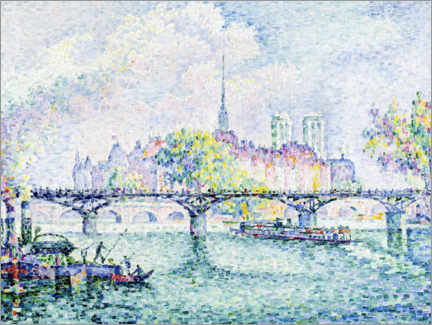 Wood print  Paris, Ile de la Cité - Paul Signac