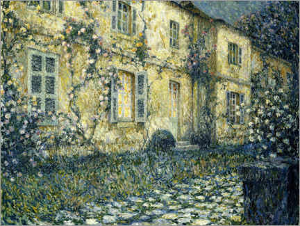 Premium poster  The summer house - Henri Le Sidaner