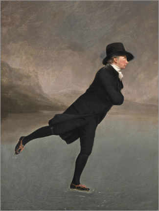 Premium poster  Rev. Robert Walker, ice skating - Henry Raeburn