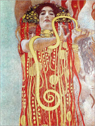 Wood print  Hygieia detail from the medicine - Gustav Klimt