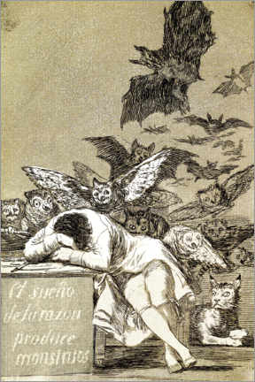 Canvas print  El sueño de la razón produce monstruos (The sleep of reason gives birth to monsters) - Francisco José de Goya
