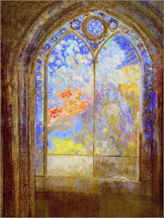 Acrylic print  Church window - Odilon Redon
