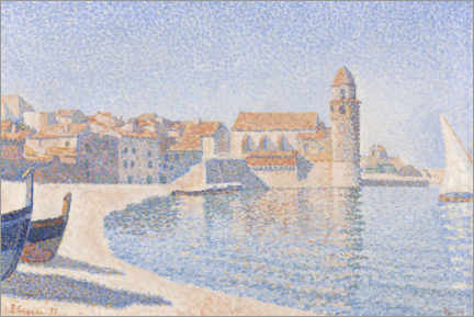 Aluminium print  View of Collioure - Paul Signac