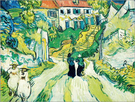 Gallery print  Stairway at Auvers - Vincent van Gogh