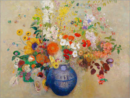 Canvas print  Bunch of flowers - Odilon Redon