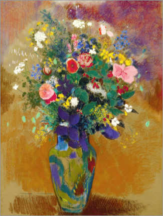 Wall sticker  Big field bouquet - Odilon Redon