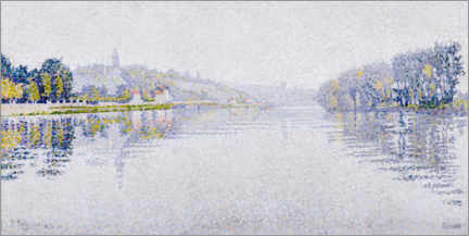 Canvas print  Banks of the Seine at Herblay - Paul Signac