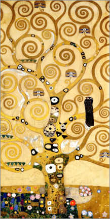 Aluminium print  The tree of life (central panel) - Gustav Klimt