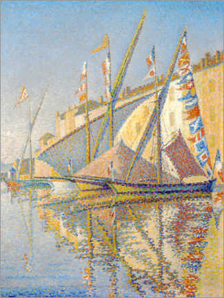 Canvas print  Sailing boats at the port of Saint Tropez - Paul Signac