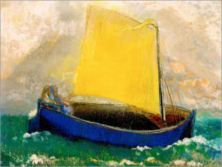 Premium poster  The mystical boat - Odilon Redon
