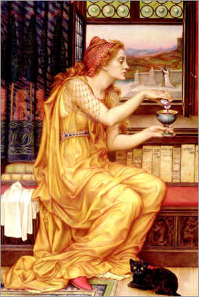 Aluminium print  The love potion - Evelyn De Morgan