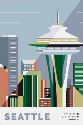 Premium poster  space needle seattle - Nigel Sandor