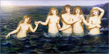 Premium poster  The mermaids - Evelyn De Morgan