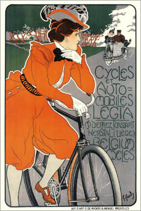 Canvas print  Bicycles and automobiles - Georges Gaudy
