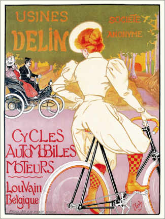 Canvas print  Bicycles, cars and engines, Belgium - Georges Gaudy