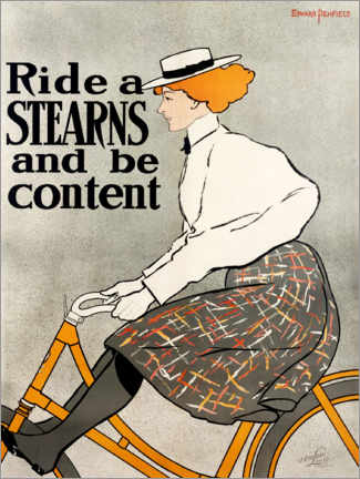 Canvas print  Ride a Stearns and be content - Edward Penfield
