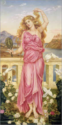 Wall sticker  Helena of Troy - Evelyn De Morgan